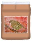 Sweet Female House Finch 3 - Digital Paint Duvet Cover