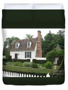 Sweet Home In Colonial Williamsburg Duvet Cover