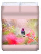Sweet Hummingbird Love Duvet Cover
