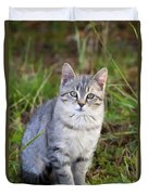Sweet Little Tabby Kitten Duvet Cover