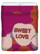 Sweet Love Candy Duvet Cover