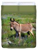 Sweet Miniature Donkey Duvet Cover