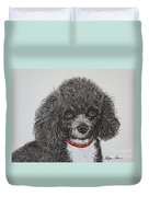 Sweet Miss Molly The Poodle Duvet Cover