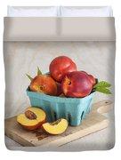 Sweet Nectarines Duvet Cover