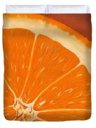Sweet Orange Duvet Cover