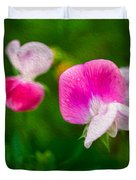 Sweet Pea Blossoms Duvet Cover