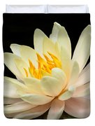 Sweet Peach Water Lily Duvet Cover