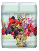 Sweet Peas In A Vase Duvet Cover