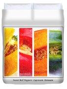 Sweet Pepper Watercolor Duvet Cover