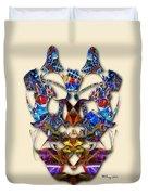Sweet Symmetry - Flu Bugs Duvet Cover