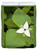 Sweet White Trillium Duvet Cover