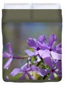Sweet William Purple Wildflower Springtime Duvet Cover