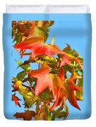 Sweetgum Leaves In Autumn Duvet Cover