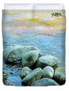Swift River Rock Kancamagus Highway Nh Duvet Cover