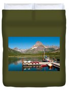 Swiftcurrent Lake Duvet Cover