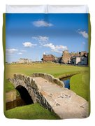 Swilcan Bridge On The 18th Hole At St Andrews Old Golf Course Scotland Duvet Cover