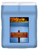 Swim Beach Sign L Duvet Cover