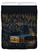 Swim Platform On Lake Quinault Duvet Cover