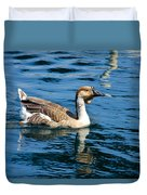 Swimming African Brown Goose Duvet Cover