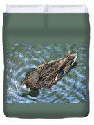 Swimming Duck  Duvet Cover
