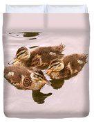 Swimming Ducklings Duvet Cover