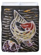 Swimming Fish Inside The Sea River Water Duvet Cover
