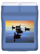 Swimming Geese Duvet Cover