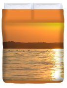 Swimming Into The Sun Duvet Cover