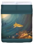 Swimming With Sharks Duvet Cover