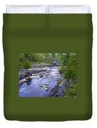 Swing Bridge Over The River Duvet Cover