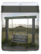 Swing On The Beach Duvet Cover