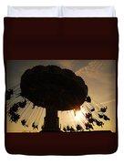 Swing Ride At Sunset Duvet Cover