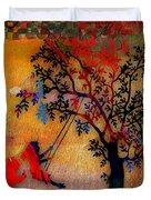 Swinging On A Tree Duvet Cover
