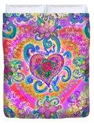Swirley Heart Variant 1 Duvet Cover