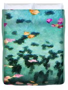 Swirling Leaves And Petals 2 Duvet Cover