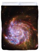 Swirling Red Galaxy Duvet Cover