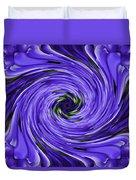 Swirls Of Blue Duvet Cover