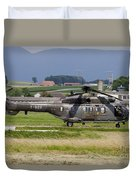 Swiss Air Force Eurocopter Cougar Duvet Cover
