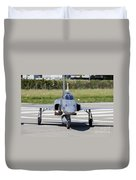 Swiss Air Force F-5e Tiger Recovering Duvet Cover