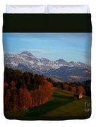 Swiss Alpine Scene Duvet Cover