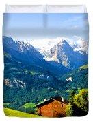 Switzerland Oil On Canvas Duvet Cover