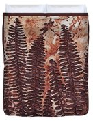 Sword Fern Fossil Duvet Cover by Katherine Young-Beck
