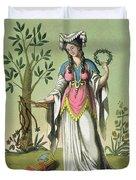 Sybil Of Delphi, No. 15 From Antique Duvet Cover