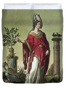 Sybil Of Eritrea With Her Insignia, 1796 Duvet Cover