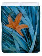 Sycamore Leaf And Sotol Plant Duvet Cover