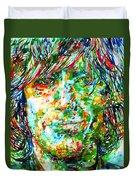 Syd Barrett - Watercolor Portrait Duvet Cover