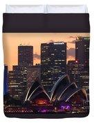 Sydney At Sunset Duvet Cover