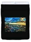 Sydney Harbor Sunrise Duvet Cover