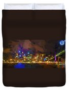 Sydney Harbour At Night Duvet Cover