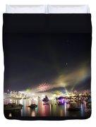 Sydney Navy Fleet Fireworks Duvet Cover